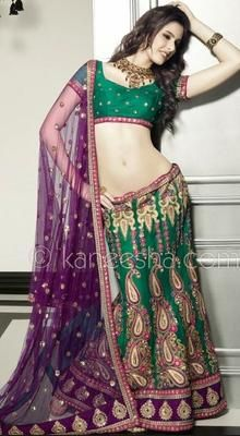 Buy Indian dresses online - the most fashionable Indian outfits for all occasions. Check out our new arrivals - the latest Indian clothes trending in Green Lehenga, Lehenga Choli, Anarkali, Saree, Net Lehenga, Lehenga Blouse, Indian Dresses, Indian Outfits, Indian Clothes
