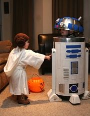 R2-D2 and Princess Leia StarWars Movie Costumes