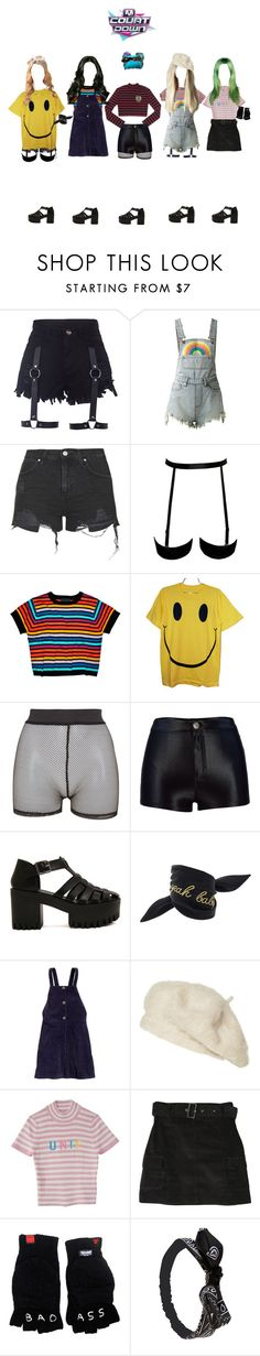 """""""«The 7th Sense» M Countdown ← Debut Stage"""" by kreature-official ❤ liked on Polyvore featuring UNIF, Topshop, Cynthia Rowley, Burger and Friends, Bitching & Junkfood, Yves Saint Laurent, H&M, Zara, Lenny and Wet Seal"""