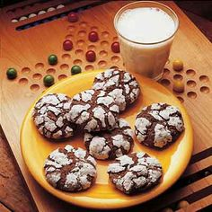 A classic chocolate cookie! A fudgy brownie-like cookie rolled in powdered sugar.