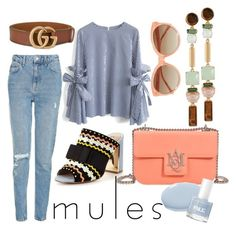 """""""Mules 3"""" by marinkav on Polyvore featuring Topshop, Chicwish, Gucci, Miss KG, Alexander McQueen, Linda Farrow and Henri Bendel"""