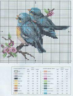 Etamin Şablonları Kuş Desenleri 32