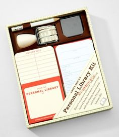 personal library kit from fred flare. I so need this for movies I loan.