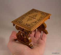 Dollhouse 1:12 OOAK Miniature tuscan table with by Inchscaled