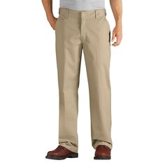 Dickies Men's Relaxed Straight Fit Comfort Waist Flex Twill Pant- Desert Sand 32x34