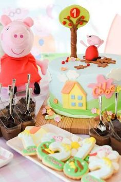 Peppa Pig has is a favorite is many a household. I'm sure every child's dream is to splash around in the mud just like their favorite character. If you have a Peppa fan at home, then how about hosting a Peppa Pig 1st birthday? It's a great theme if you want a bright and colorful party.. See more party ideas and share yours at CatchMyParty.com #catchmyparty #partyideas #peppapigbirthdayparty #girl1stbirthdayparty #peppapig1stbirthdayparty #peppapig #girl1stbirthdayideas #girl1stbirthdaythemes…