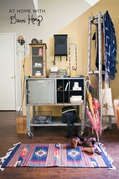 At Home with Danni Hong via A Beautiful Mess. Small Space Living, Living Spaces, Interior Decorating, Interior Design, Beautiful Mess, My Living Room, Apartment Living, Home Decor Inspiration, Room Interior