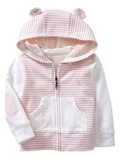 Favorite dots & stripes bear hoodie -- Shop online at babyGAP online through Zoola and get cash back!
