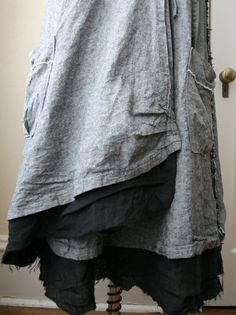 In Stock  Lagenlook Skirt / Maxi Skirt / by BreatheAgainClothing, $95.00