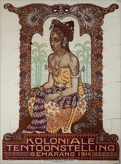 Dutch Colonial Exhibition, Semarang (Java, Indonesia), Showing a Javanese bride draped in the elaborate fabrics of traditional dress. Vintage Advertisements, Vintage Ads, Vintage Travel Posters, Vintage World Maps, Old Poster, Bali Painting, Vietnam, Indonesian Art, Old Commercials