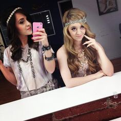 Megan and Liz....and overnight you look like a 60's queen...--tswift