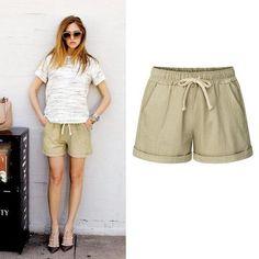 ed9b4c340961d Summer Womens High Waist Loose Wide Leg Shorts Thin Casual Shorts Large  Size 6XL Haren Shorts Female Cotton Short Pants