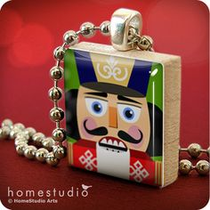 ON SALE - Nutcracker : pendant jewelry from Scrabble tile piece. HomeStudio gift present. Nutcracker Sweet, Nutcracker Christmas, Christmas Time, Nutcracker Crafts, Xmas, Christmas Things, Christmas Ideas, Etsy Coupon, Christmas Table Settings
