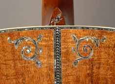 2006 Martin D-50 Koa Deluxe - Limited Edition Dreadnought Acoustic Guitar - Closeup of Back Inlay