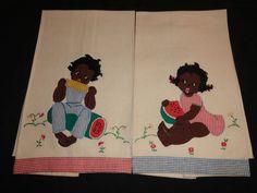 cute vintage tea towels