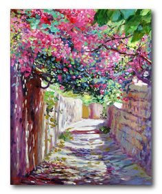 I really like this floral canvas art print.  I love the garden and all the bright and bold colors.   This would look great in a bedroom or living room.  I have a very similar floral canvas wall art in my office.
