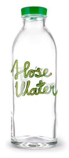 Faucet Face Water Bottles! Typography by Seb Lester. sales support clean water in rural India.