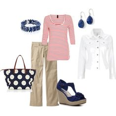 casual stripe, created by amarsh306.polyvore.com