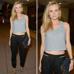 Diane Kruger Shows Us How to Wear the Crop Top <3 Shop this look at @SPARKTREND, click the image to see! #outfits