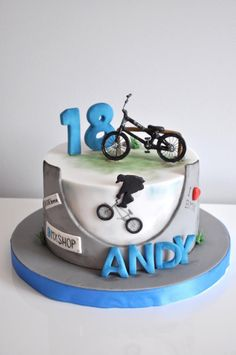 Bmx bike cake bicycles 20 Ideas for 2019 Bicycle Cake, Bike Cakes, Cupcakes, Cupcake Cakes, Mountain Bike Cake, Bmx Cake, Skateboard Cake, Sport Cakes, Cakes For Men