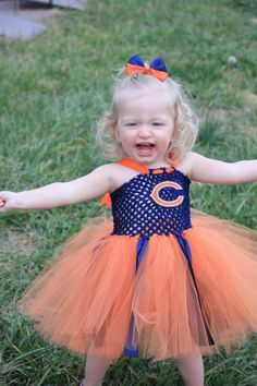 Chicago bears inspired tutu dress and by LittledreamsbyMayra, $27.00