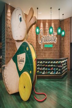The Graduate Hotel in Eugene, Oregon Showcases 43 Pairs of Vintage Nikes Great Hotel, At The Hotel, Hobby Box, Hobby Hobby, Caravan, Shower Wheelchair, Oregon Hotels, Dry Cleaning Services, Lobby Reception