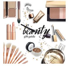 Beauty Faves by elli-argyropoulou on Polyvore featuring polyvore, beauty, Bobbi Brown Cosmetics, Burberry, Charlotte Tilbury, Nude by Nature, Trish McEvoy, Chanel, giftguide and rosegold