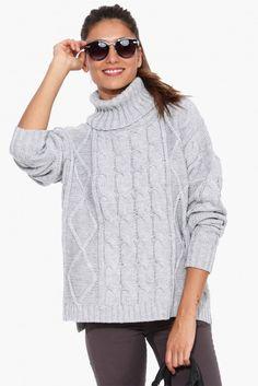 Burbank Turtleneck Sweater in Heather grey | Necessary Clothing