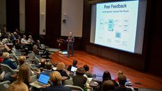 Monday, Feb. 19, 2018: Attendees gathered at the Howard Hughes Medical Institute in Chevy Chase, Maryland, to discuss the pros and cons of greater transparency in the peer-review system. Here, Ron Vale of the University of…