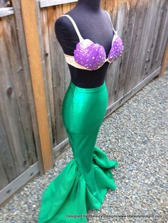 Ariel Budget Little Mermaid Costume Tail and Shells by Bbeauty79, $379.95