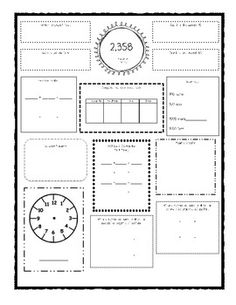 Common Core Math Worksheets (for all 4th grade standards
