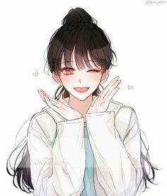 @miumokoo ♡ Anime girl,art,smile