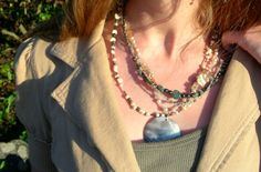 Sea Goddess MultiStrand Necklace by BirdNBee on Etsy, $64.00