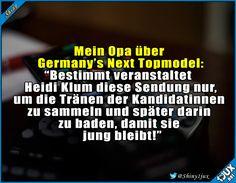 Das ist also ihr Geheimnis! #GemanysNextTopmodel #lustige #Sprüche #Humor #lustig