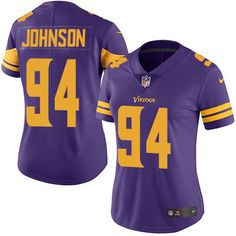 b14fec421 ... Womens Nike Minnesota Vikings 94 Jaleel Johnson Limited Purple Rush NFL  Jersey ...