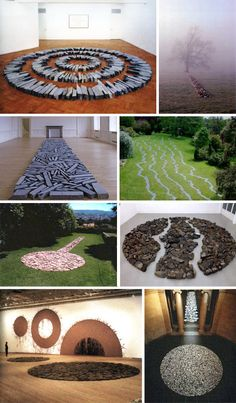earthworks of richard long, article Richard Long, Land Art, Art Sculpture, Sculptures, Christo Y Jeanne Claude, Art Et Nature, Nature Artists, Andy Goldsworthy, Art Environnemental