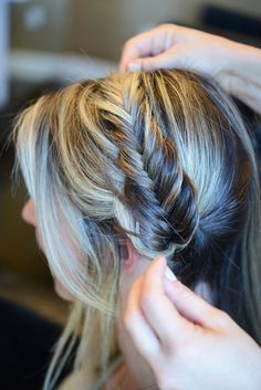 We LOVE the loose, braided up-do looks! It is a simple way to make your pictures more current! Look here for general tips for braiding.