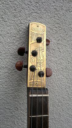 Cigar box guitar headstock
