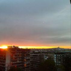 @janettesvn Instagram photos | Same #viewfrommywindow different angle. Looking towards #Montmatre and the #SacreCoeur #Paris #Parissunset #parisinspring #viewoverthewholecity #Parisrooftops #Parisjetaime #parismaville #IloveParis #parismonamour #instafrance #instaparis #igersparis #ig_paris