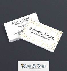 Business Card Designs - 2 Sided Printable Business Card Design - Audrey by RhondaJai on Etsy