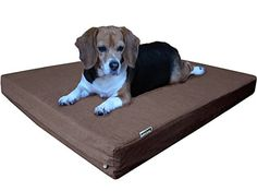 Dogbed4less Orthopedic Small Medium Memory Foam Pet Bed with Washable Denim Cover Waterproof Liner and Extra External Case 35X20X4 Inch >>> Check out the image by visiting the link.
