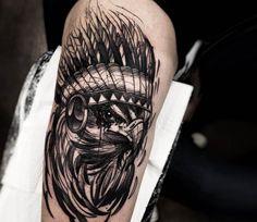 Desert Eagle tattoo by Felipe Rodrigues