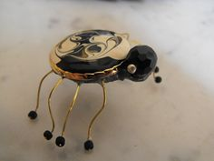 Spider Figurine Handmade Enameled Beaded by MotherNaturesStash