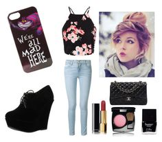 """""""Rocker Chic"""" by bellaclairecassedemont ❤ liked on Polyvore featuring Frame Denim, Disney, Forever Link, Chanel and Butter London"""