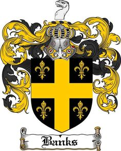 banks coat of arms / family crest #heraldry #family #crest #shield #crests…