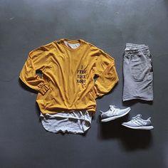 WEBSTA @ _chefsupreme - @yeezytalkworldwide shirt@fearofgod tank top@sandroparis shorts@adidasoriginals ultraboosts@dennistodisco / @outfitgrid