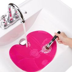 A makeup brush-cleaning mat for your sink ($25). | 23 Gifts Only Clean Freaks Will Actually Appreciate | Buzzfeed