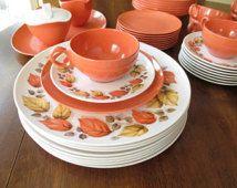 Vintage Oneida Melamine Dinnerware Set - Service For Eight