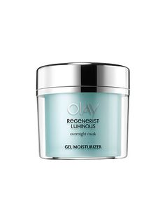 Olay Regenerist Luminous Overnight Mask: Slather on this hydrating gel before bed and it moisturizes in a major way—without leaving a major stain on your pillow.