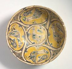 Bowl Iran, Nishapur Bowl, 10th century Ceramic; Vessel, Earthenware, underglaze slip-painted, 3 1/4 x 8 5/8 in. (8.26 x 21.91 cm) The Nasli M. Heeramaneck Collection, gift of Joan Palevsky (M.73.5.226) Art of the Middle East: Islamic Department.